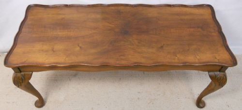 Long Walnut Coffee Table
